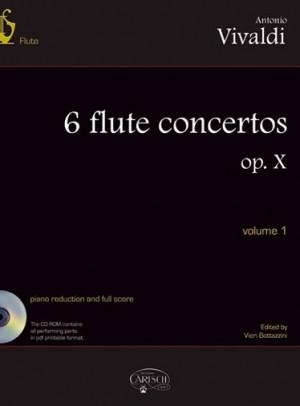 6 FLUTE CONCERTOS Op.10 Volume 1 + CD