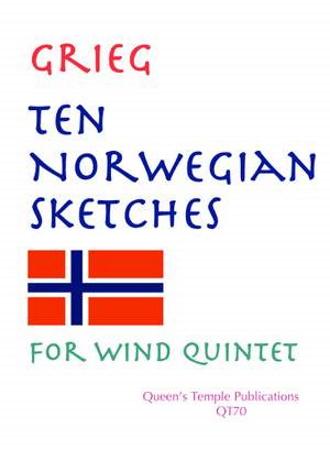 TEN NORWEGIAN SKETCHES score & parts