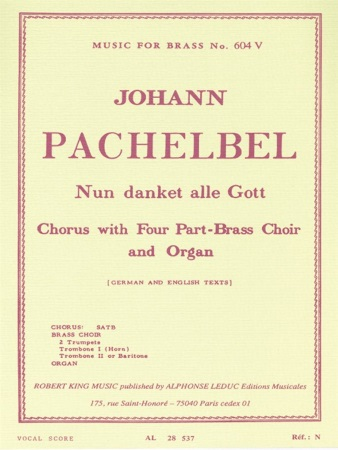 NUN DANKET ALLE GOTT (vocal score)