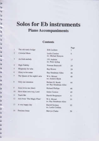 SOLOS FOR Eb INSTRUMENTS