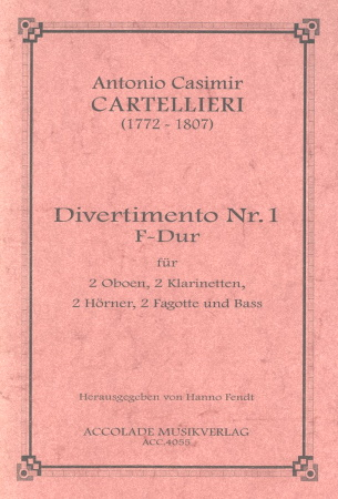 DIVERTIMENTO No.1 in F major score & parts