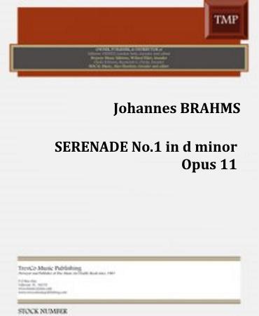 SERENADE No.1 in D major Op.11 (score & parts)