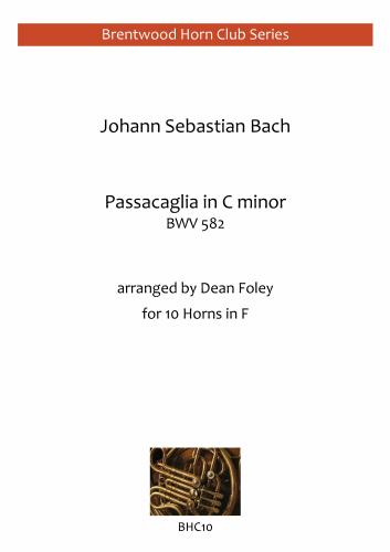 PASSACAGLIA in C minor, BWV582  (score & parts)