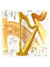 FRIDGE MAGNET Harp