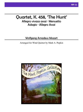 QUARTET, K.458 'The Hunt' (score & parts)