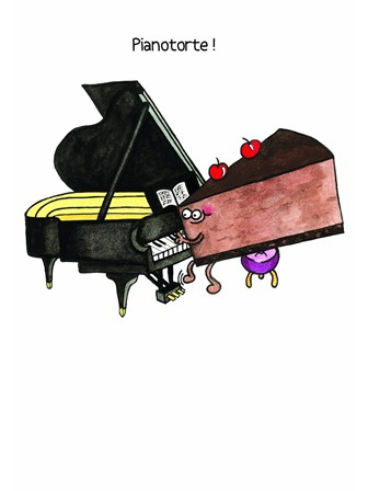 GREETINGS CARD Pianoforte!