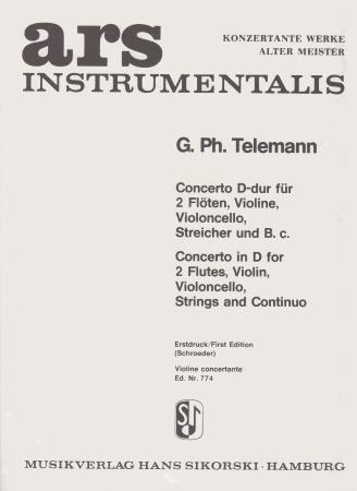 CONCERTO in D solo violin part