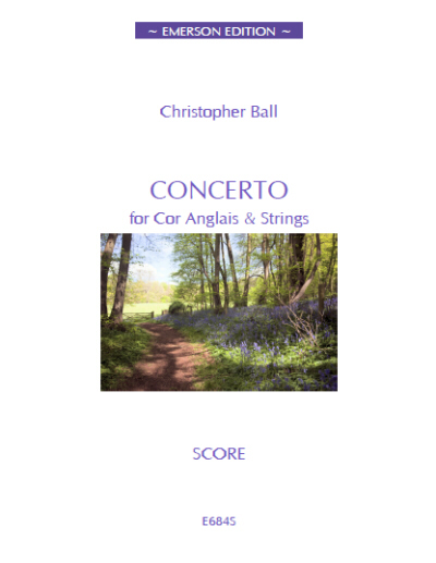 CONCERTO for Cor Anglais & Strings (score)