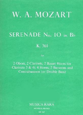 SERENADE No.10 in Bb major K361 'Gran Partita' (set of parts)