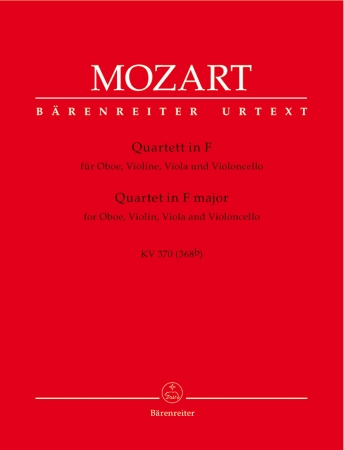 QUARTET in F major K370 (368b) (set of parts)