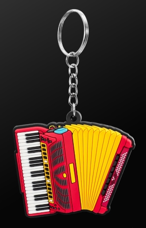 INSTRUMENT KEYRING Piano Accordion