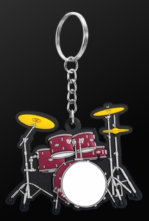 INSTRUMENT KEYRING Drum Set (Red)