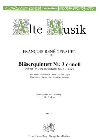 QUINTET No.3 in C minor set of parts