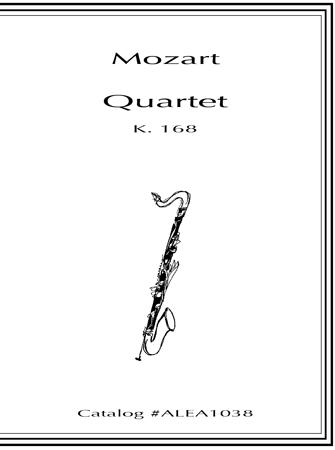 QUARTET K168 (score & parts)