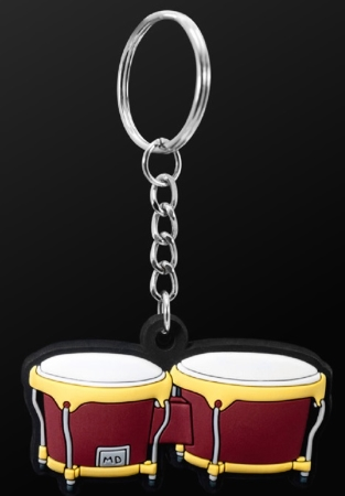 INSTRUMENT KEYRING Bongo (Brown)
