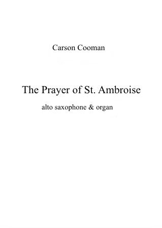 THE PRAYER OF SAINT AMBROISE