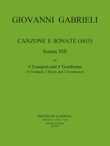 SONATA XIII (score & parts)