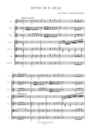 SEPTET Op.10 in Eb major (set of parts)