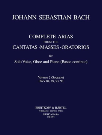 COMPLETE ARIAS & SINFONIAS Oboe: Volume 2