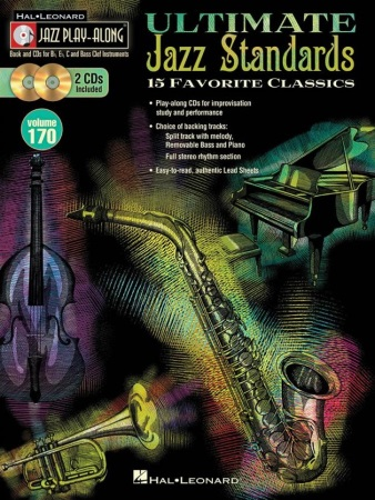 ULTIMATE JAZZ STANDARDS Jazz Playalong Volume 170 + CD