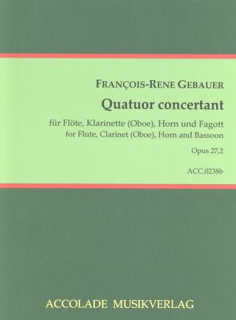 QUATUOR CONCERTANT (Quartet) in F minor Op.27 No.2 score & parts