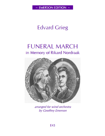 FUNERAL MARCH in Memory of Rikard Nordraak (score & parts)