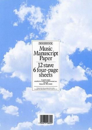 MANUSCRIPT PAPER 12-Stave, 24 Pages (A4)