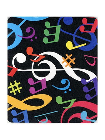 MOUSE MAT Multicolour Musical Notes