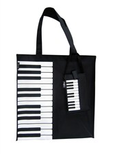 CANVAS TOTE BAG Keyboard/Piano Design