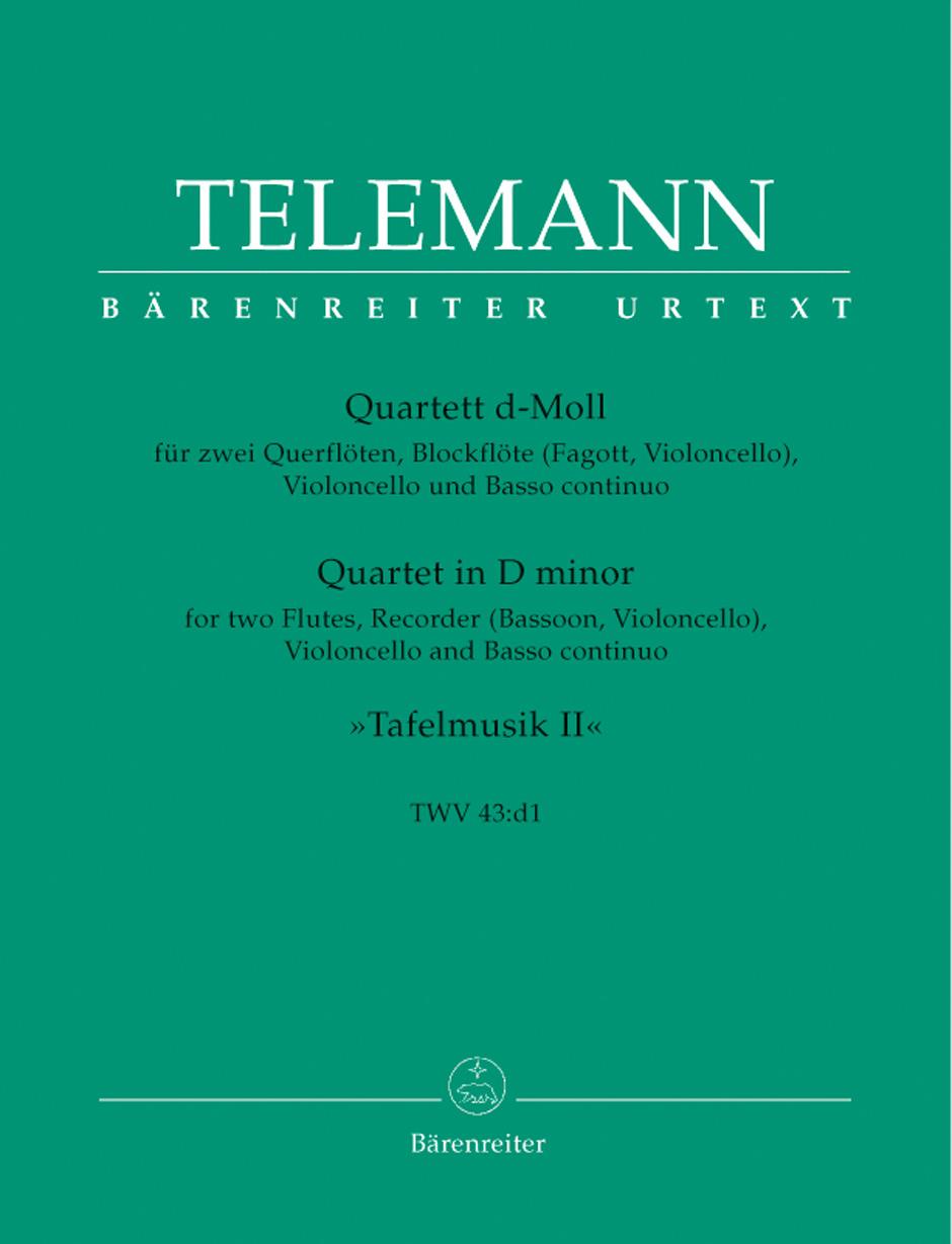 QUARTET in D minor TWV 43:d1, 'Tafelmusik II'