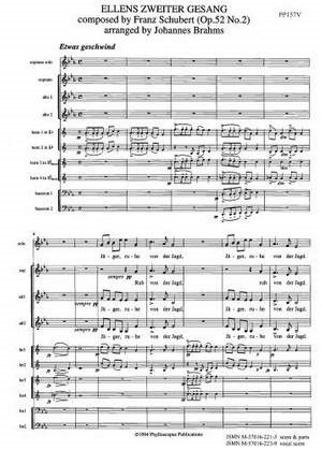 ELLENS ZWEITER GESANG Vocal Score