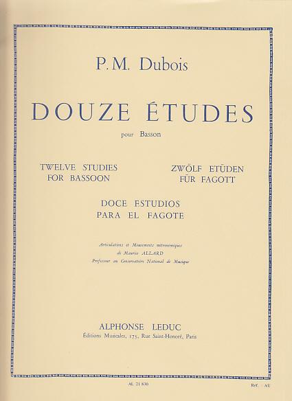 DOUZE ETUDES