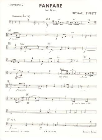 FANFARE No.1 (Trombone 2)