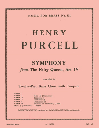 SYMPHONY from The Fairy Queen, Act IV (score & parts)