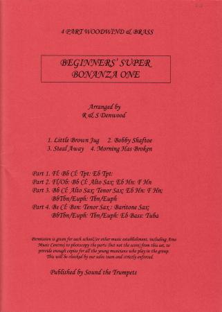 BEGINNERS' SUPER BONANZA One score & parts