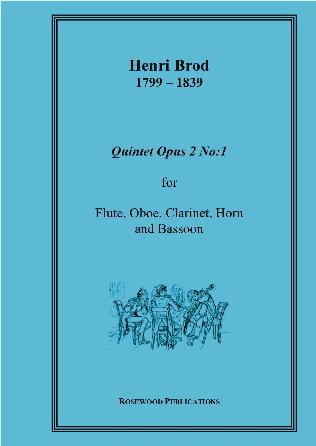 WIND QUINTET Op.2 No.1 (score & parts)