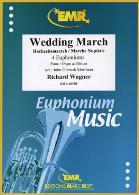 WEDDING MARCH treble/bass clef
