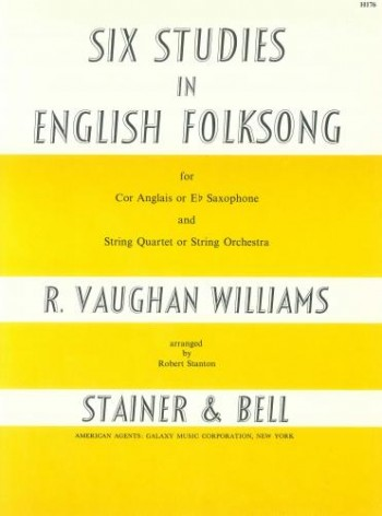 SIX STUDIES IN ENGLISH FOLKSONG Cor Anglais part