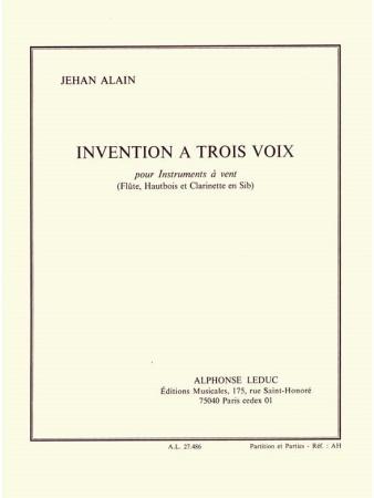 INVENTION A TROIS VOIX (score & parts)