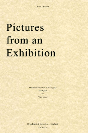 PICTURES FROM AN EXHIBITION (score & parts)