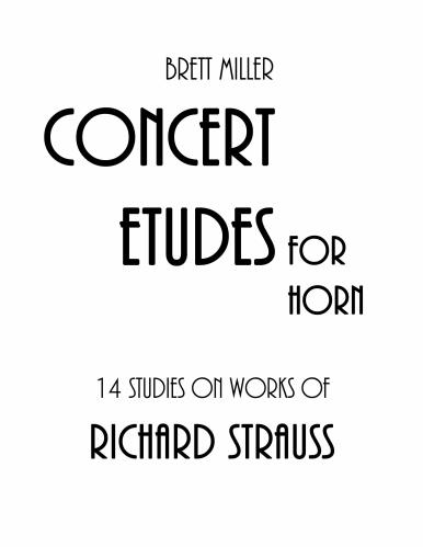 14 STUDIES on Works of Richard Strauss
