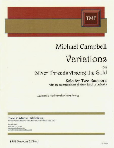 VARIATIONS ON SILVER THREADS (score & parts)