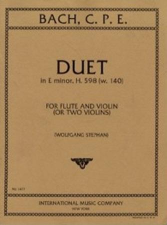 DUET in E minor, H598 (W140)