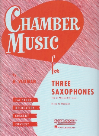 CHAMBER MUSIC for three saxophones playing score
