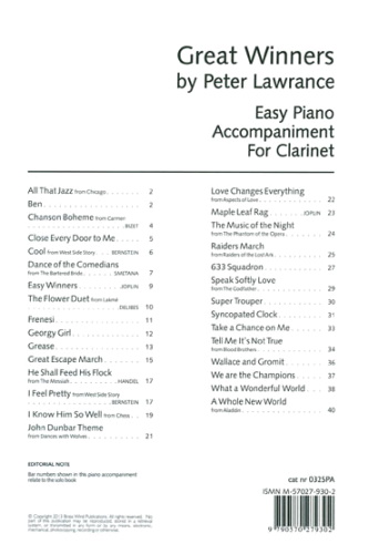 GREAT WINNERS Easy Piano Accompaniment