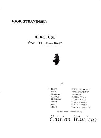 BERCEUSE from 'The Firebird'