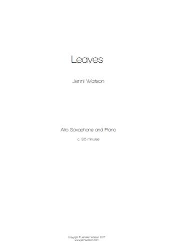 LEAVES + Online Audio