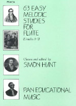 63 EASY MELODIC STUDIES FOR FLUTE