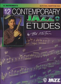 TWELVE CONTEMPORARY JAZZ ETUDES alto/baritone sax