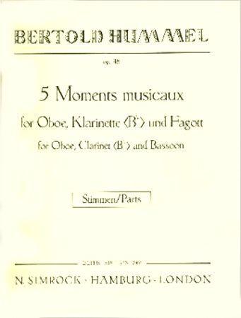 FIVE MOMENTS MUSICAUX Op.48 miniature score